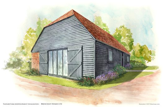 Tanyard Farm (Building) – illustration by Mozchops | Brenchley Homes